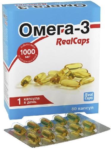 Купить ОМЕГА-3 REALCAPS N80 КАПС МАССОЙ 1400МГ цена