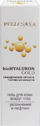 Купить PELLESANA ГИАЛУРОНОВАЯ КИСЛОТА+АКТИВНЫЙ КОЛЛАГЕН BIOHYALURON GOLD ГЕЛЬ ДЛЯ КОЖИ ВОКРУГ ГЛАЗ 15МЛ цена
