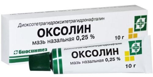 Купить Оксолин 0,25% 10,0 мазь назал /биосинтез/ цена