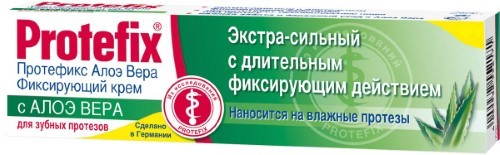 Купить PROTEFIX ФИКСИРУЮЩИЙ КРЕМ ЭКСТРА-СИЛЬНЫЙ АЛОЭ ВЕРА 40,0 цена