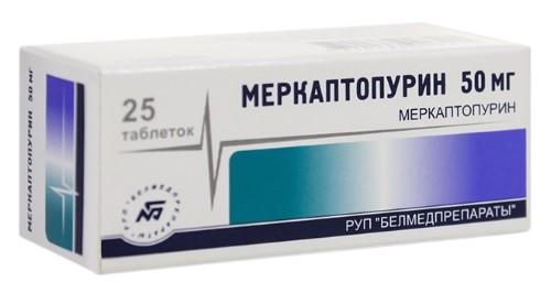 Купить МЕРКАПТОПУРИН 0,05 N25 ТАБЛ цена