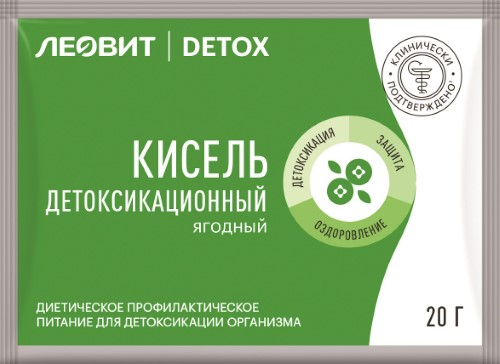 Купить ЛЕОВИТ DETOX КИСЕЛЬ ДЕТОКСИКАЦИОННЫЙ ЯГОДНЫЙ С КЛУБНИКОЙ 20,0 цена
