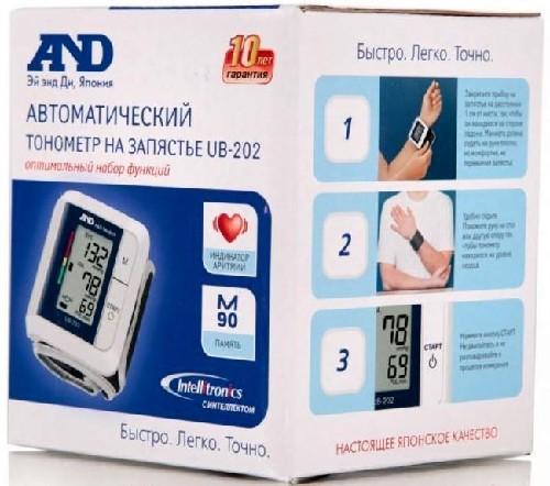 ТОНОМЕТР UB-202 АВТОМАТ НА ЗАПЯСТЬЕ - цена 2130 руб., купить в интернет аптеке в Москве ТОНОМЕТР UB-202 АВТОМАТ НА ЗАПЯСТЬЕ, инструкция по применению