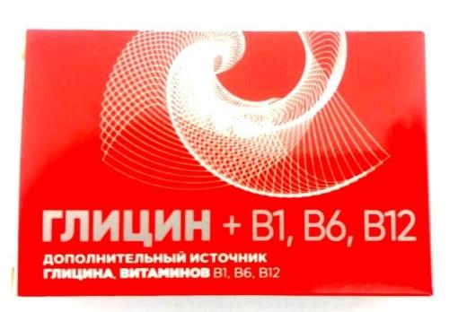 Купить ГЛИЦИН+B1 B6 B12 БИТРА N20 ТАБЛ ПО 600МГ цена