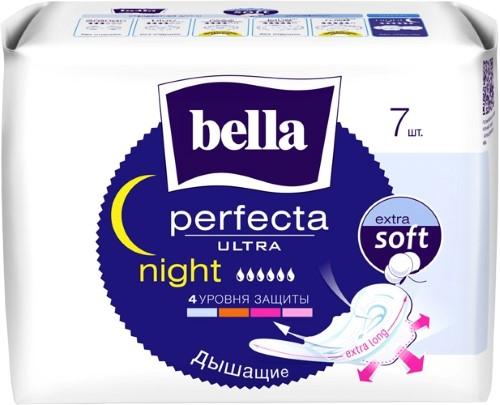 Купить BELLA ПРОКЛАДКИ PERFECTA ULTRA NIGHT С ПОКРЫТИЕМ EXTRA SOFT N7 цена