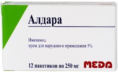Купить АЛДАРА 5% 0,25 N12 ПАК КРЕМ Д/НАРУЖ цена