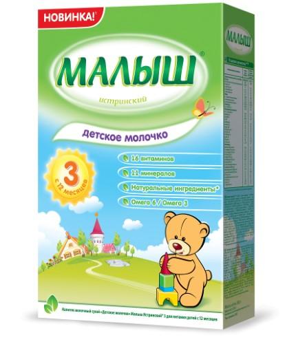 Купить МАЛЫШ ИСТРИНСКИЙ-3 НАПИТОК МОЛОЧНЫЙ СУХОЙ ДЕТСКОЕ МОЛОЧКО 350,0 цена