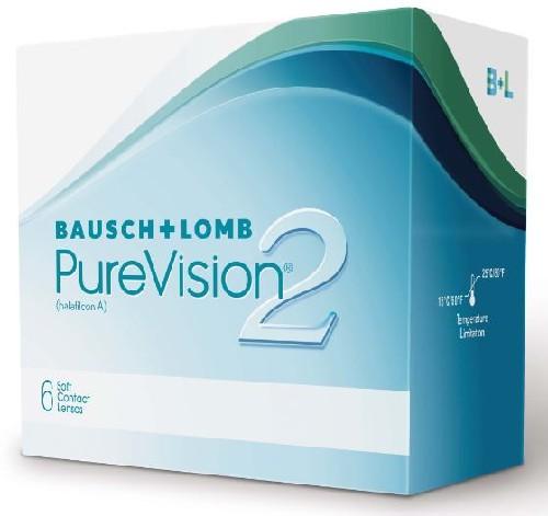 Купить Pure vision 2 контактные линзы плановой замены цена
