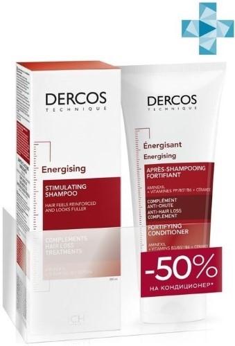 Купить Набор dercos/тонизирующий шампунь против выпадения волос 200мл+кондиционер 200мл/ цена