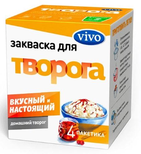 Купить VIVO ЗАКВАСКА ТВОРОГ 0,5 N4 цена