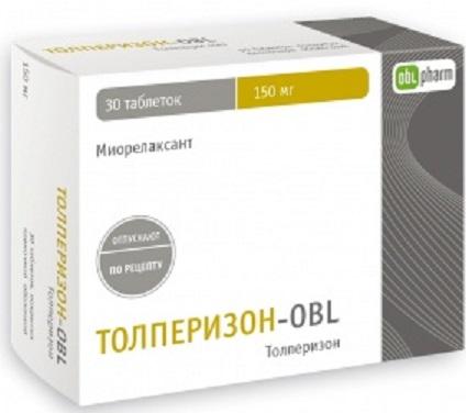 Купить Толперизон-obl 0,15 n30 табл п/плен/оболоч цена