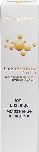 Купить PELLESANA ГИАЛУРОНОВАЯ КИСЛОТА+АКТИВНЫЙ КОЛЛАГЕН BIOHYALURON GOLD ГЕЛЬ ДЛЯ ЛИЦА 30МЛ цена